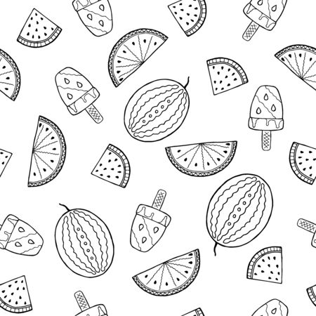 Tropical fruits textile seamless pattern.