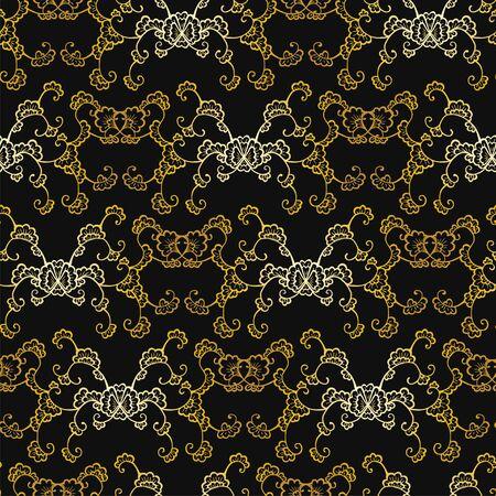 Floral seamless pattern. Vector wallpaper in art deco style textile print. Ilustração