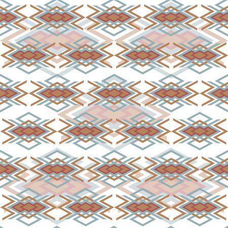 Ethnic geometric pattern, abstract vector wallpaper, textile print Ilustração