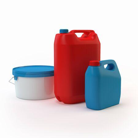 3d cans Standard-Bild