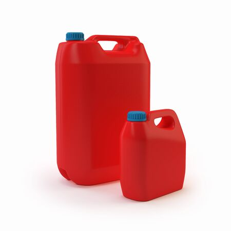 3d jerry cans Stock Photo - 17425152