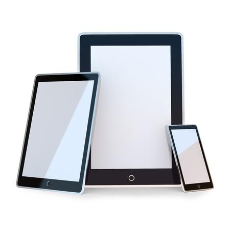Set of black electronic device