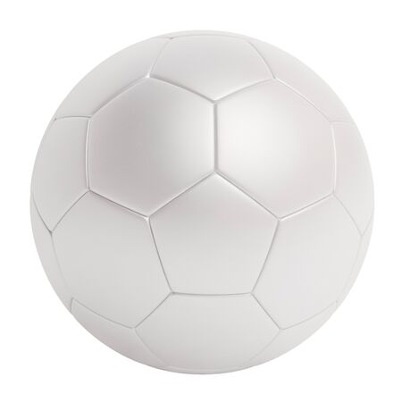 White leather soccer ball isolated on white background Standard-Bild