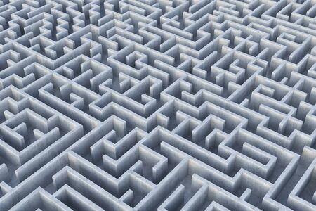 Labyrinth. 3d Illustration.