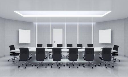 conference hall: Modern Meeting Room. 3d Illustration.