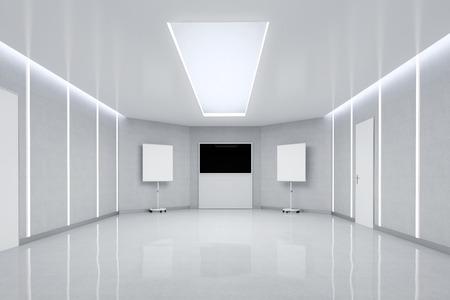Empty Meeting Room. 3d Illustration.