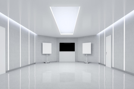 Empty Meeting Room. 3d Illustration.