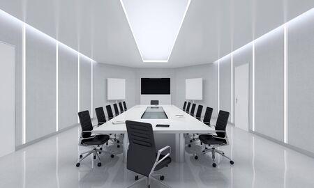 rooms: Modern Meeting Room. 3d Illustration.
