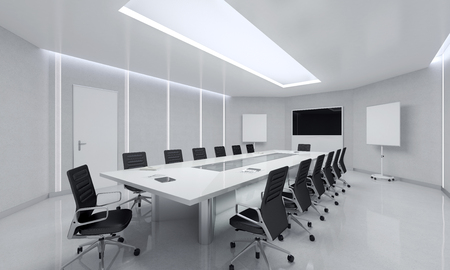Modern Meeting Room. 3d Illustration. Stock Illustration - 48631713