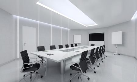 Corporations: Modern Meeting Room. 3d Illustration.