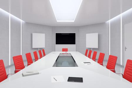 Modern Meeting Room. 3d Illustration. Stock Illustration - 48631714