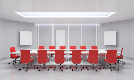 Modern Meeting Room. 3d Illustration. Stock Illustration - 48631725