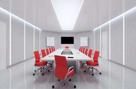 Modern Meeting Room. 3d Illustration. Stock Illustration - 48635873