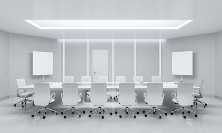 Modern Meeting Room. 3d Illustration. Stock Illustration - 49177880