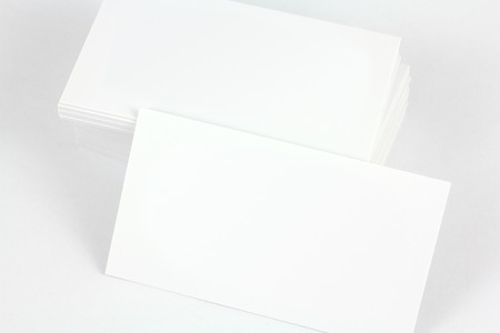 austere: White business card. Stock Photo