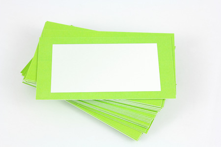 austere: Green business card
