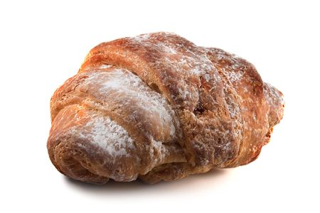 Croissant by a breakfast on a white background Stock Photo - 2299639