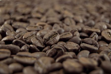 decaffeinated: coffee close-up