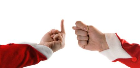 satire: provocative finger Stock Photo