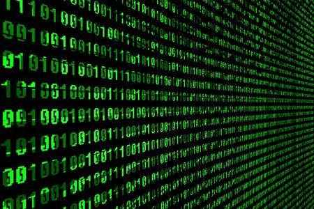 mainframe: the green matrix background on black