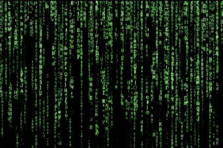 matrice verde sfondo generato dal computer