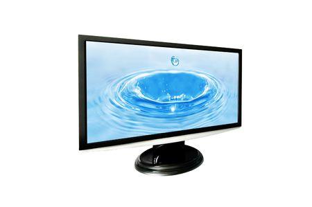 monitor isolated on white background photo