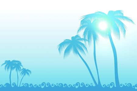 abstract background of sea and palm Stock Photo - 3745442