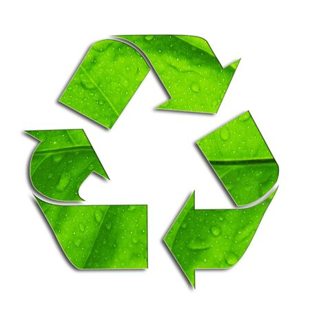 utilize: symbol of recycled isolated on white