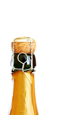 bottle of champagne isolated on white Stock Photo - 3741449