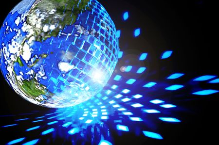 disco ball background close up Stock Photo