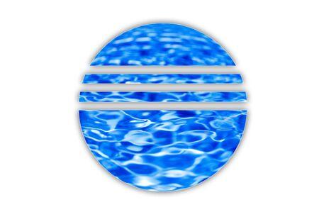 pool symbol:  water logo isolated on white