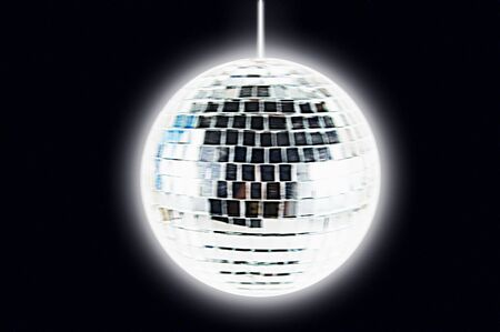 abstract disco ball isolated on white Stock Photo - 3761290