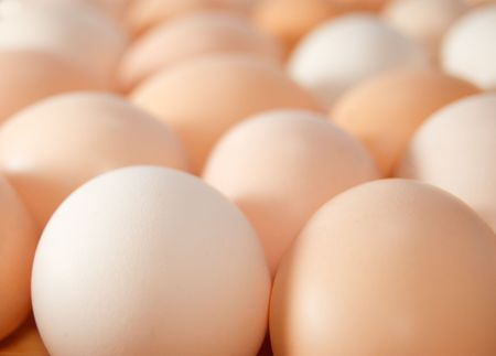 fresh eggs background close up