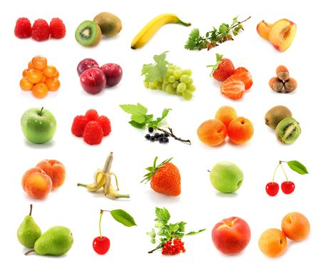 fruits isolated on white background photo