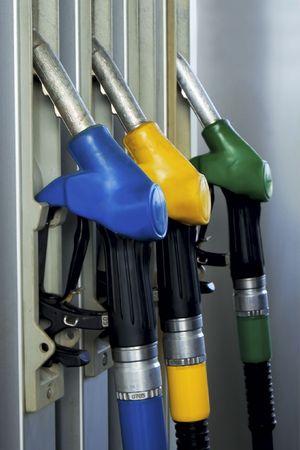 color gasoline pump close up Stock Photo - 3761244