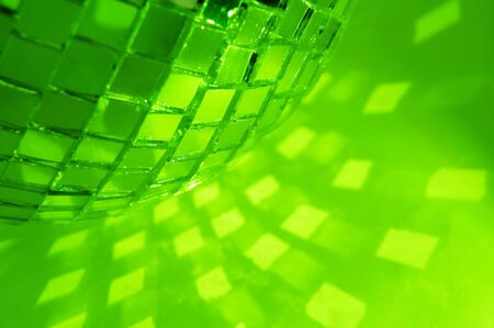 green disco ball and light reflection Stock Photo - 3761242