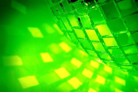 green disco ball close up Stock Photo - 3761228