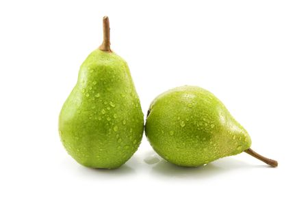 two pear isolated on white background photo
