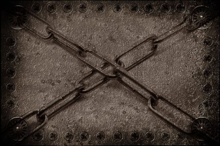 old metal background with chain Stock Photo - 3761601