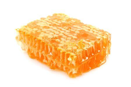 honeycomb isolated on white background photo