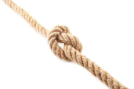 locking up: knot isolated on white background Stock Photo