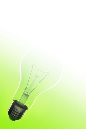 electric lamp on green background photo