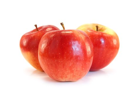 red apples isolated on white photo