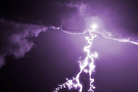 lightning in dark cloudy sky Stock Photo - 3979009