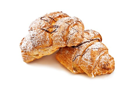 Croissant by a breakfast on a white background Stock Photo - 4377845
