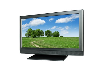 wideview: wide tv isolated on white
