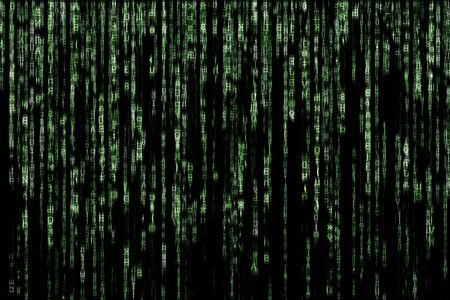 binary matrix: green matrix background computer generated