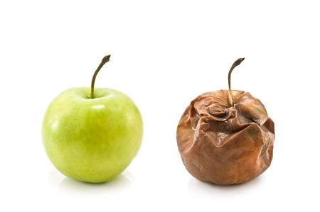 two apples isolated on white Stock Photo - 4585613