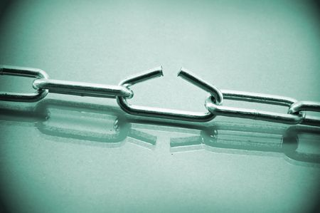 the metal chain close up Stock Photo - 5043560