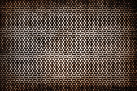 sheet iron:  illustration of old metal texture